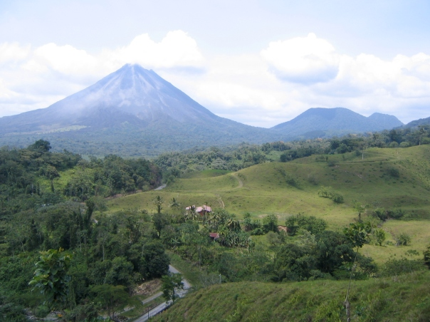 Le volcan Arenal, au Costa Rica. L'un des plus beaux paysages que j'ai eu la chance de voir.